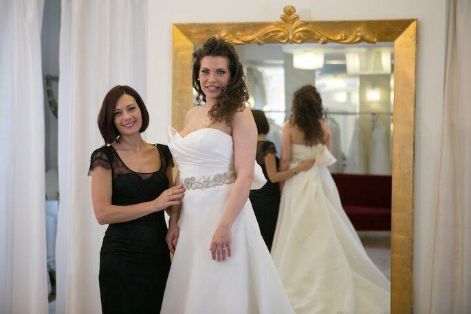 Prove dell'abito Alessandra Rinaudo - Foto Michele Dell'Utri