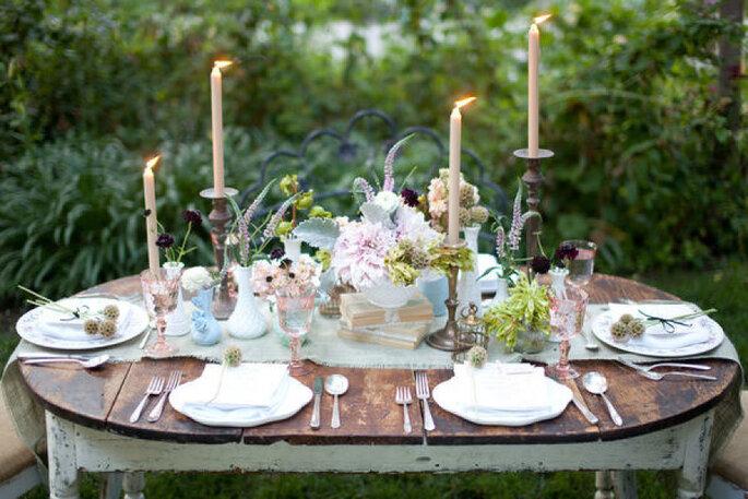 Detalles para una boda shabby chic - Becca Rillo Photography