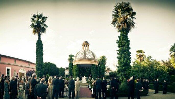Vista de los jardines donde se celebró la ceremonia-Foto: Adrián Tomadín