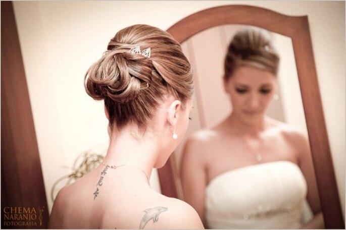Tatuajes para una novia fuera de lo común. Foto de Chema Naranjo