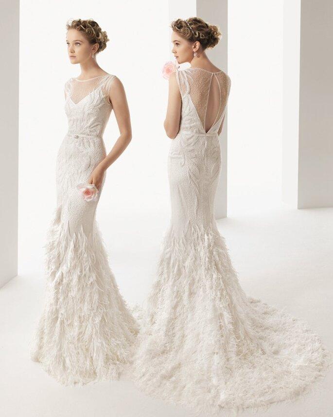 Vestido de novia con escote en la espalda - Foto Rosa Clará