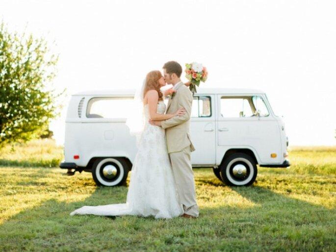 zdjęcie ślubne młodej pary