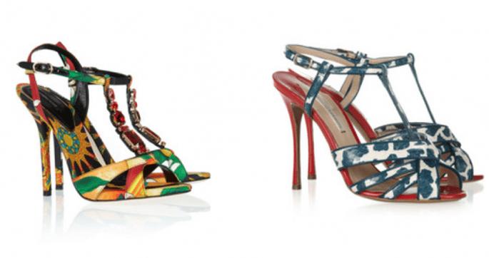 Zapatos de fiesta con estampados - Foto Net a Porter