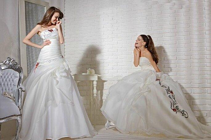 Se vi piace l'idea di un abito unico e particolare, optate per questo modello con la scritta FOREVER in caratteri gotici sulla gonna vaporosa. Gritti Spose 2013. Foto My Style s.r.l.