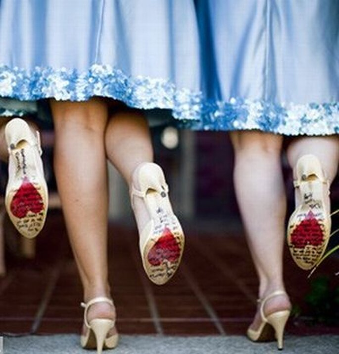 Dale un toque original a tus zapatos de novia