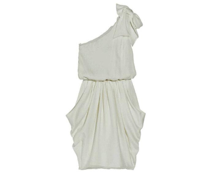 Vestido de corte asimétrico de la firma Alice Oliva