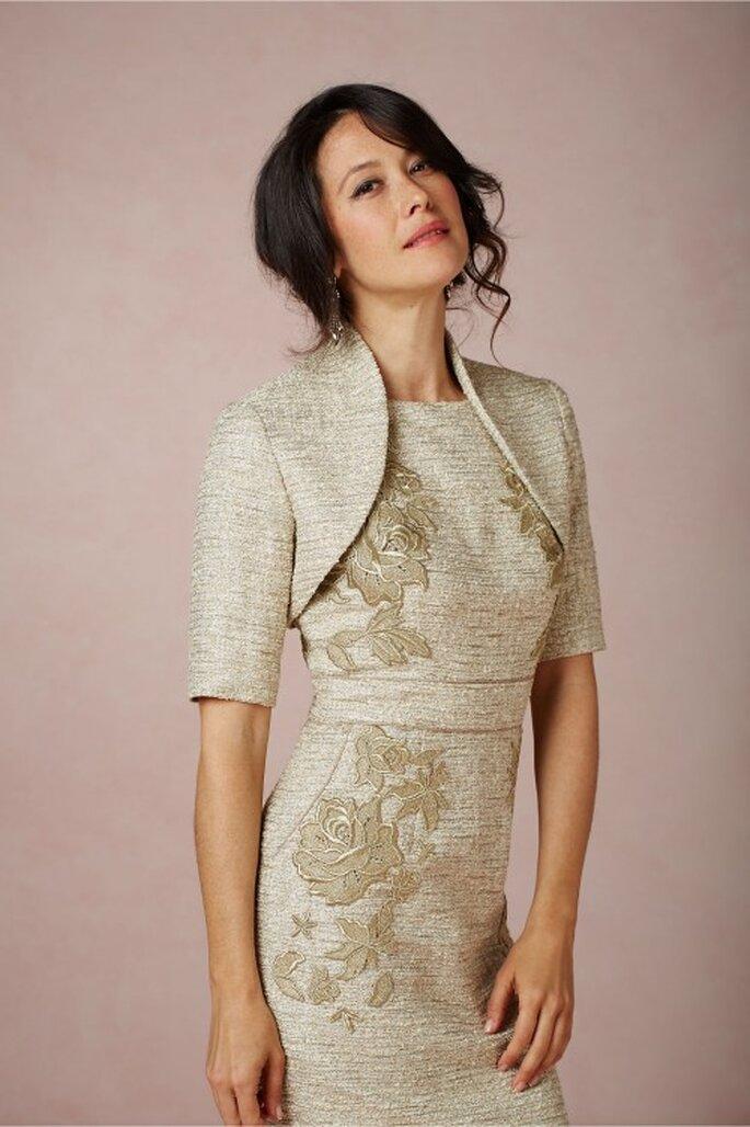 Bolero para combinar el vestido de fiesta - Foto BHLDN