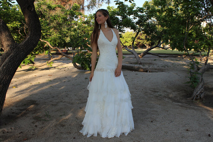 Un vestido delicado y juvenil de la diseñadora Macarena Palma. Foto: Macarena Palma