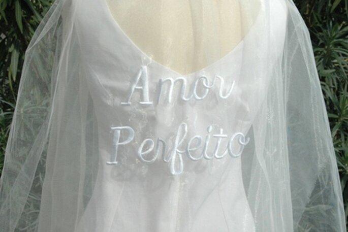 A sua história de amor no seu vestido de noiva ou véu