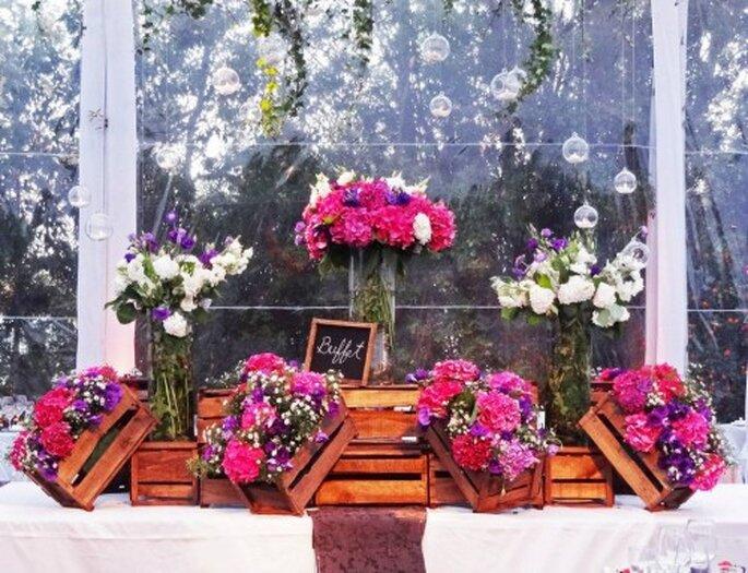 Inspiradora decoraci n de matrimonio con hortensias - Decoracion con hortensias ...