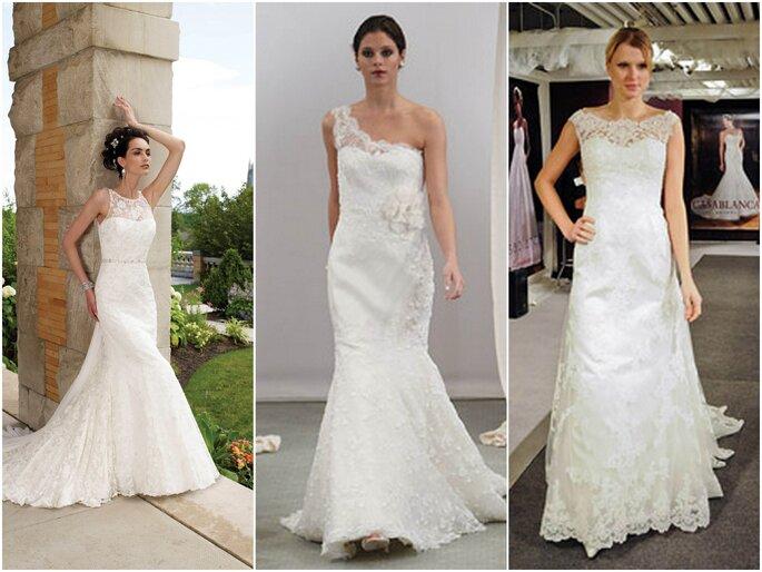 Left to right: Mon Cheri Bridals, Anne Barge, Casablanca Bridal