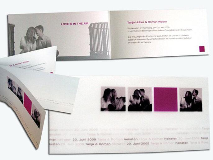Individuell bebilderte Foto-Einladungskarte von hochzeitseinladungen.de
