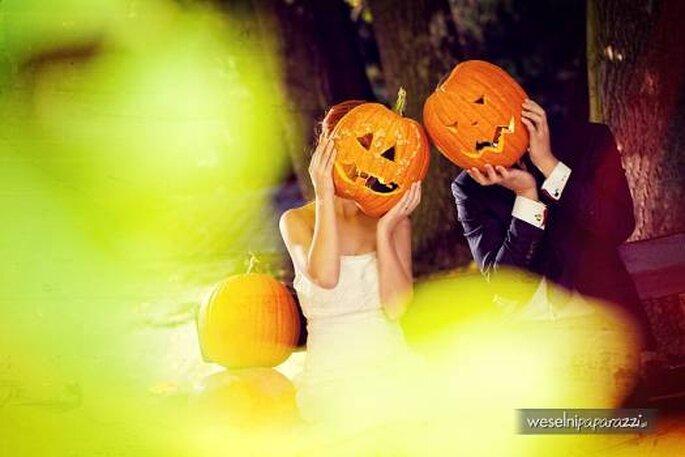 Boda en Halloweeen. Foto de Weselni-Paparazzi.