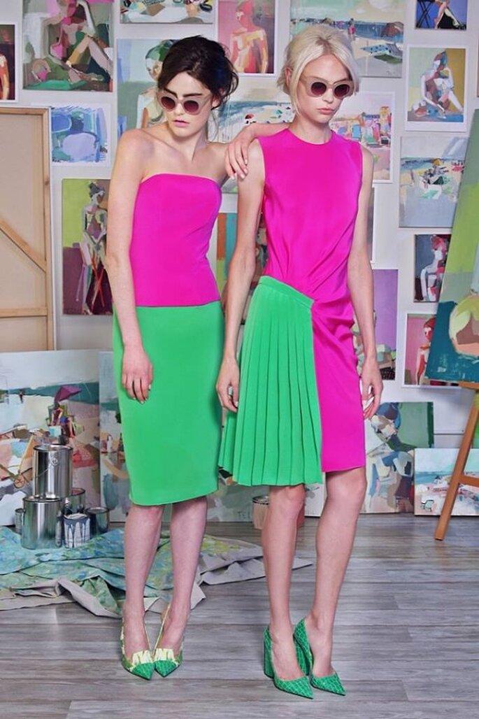 Vestidos de fiesta multicolores en la colección Crucero 2015 - Foto Christian Siriano