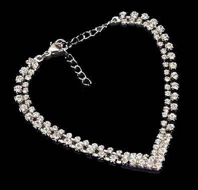 collar de diamantes en forma de corazón