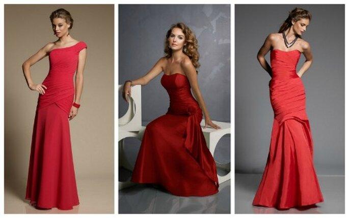Il rosso in diverse sfumature per questi abiti semplici ma dal grande fascino firmati Mori Lee. Bridal Collection 2012