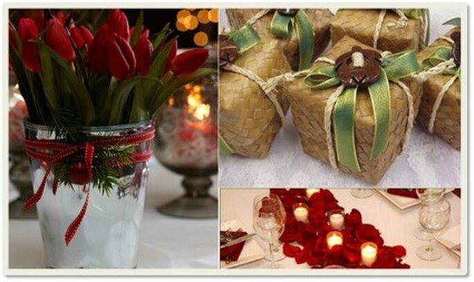 Guirnaldas, velas, poinsettias son elementos que no deberían faltar en la decoración