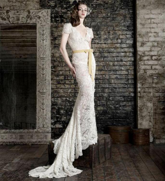 Vestido de novia Bruce Oldfield, diseñador elegido por Kate Middleton