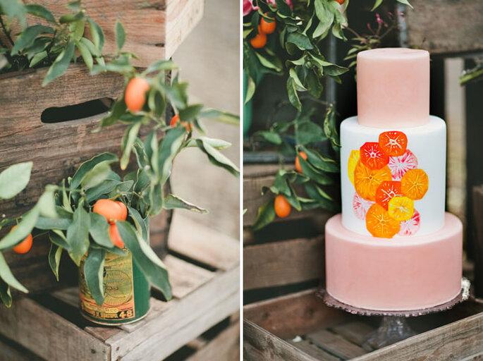 Una boda inspirada en el naranja encendido y los colores cítricos - onelove Photography