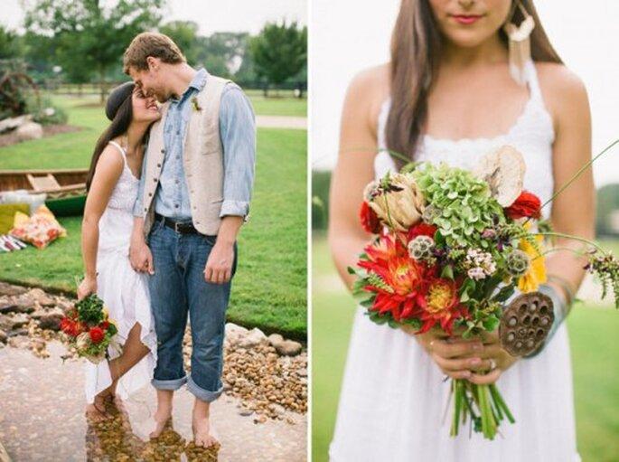 Herbstliche Brautsträuße zeigen kräftige Farben – Foto: allmanbrothers styled