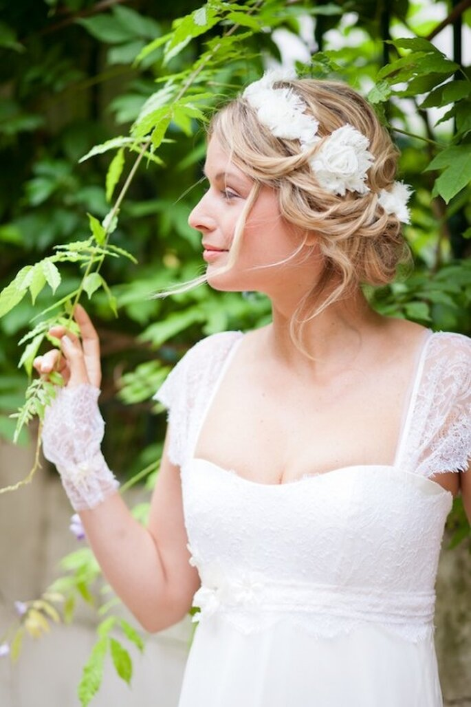 Robe de mariée Les Corsets d'Aëlle 2013, modèle Danae - Photo : Florence Akouka - FleurdeSucre photographie