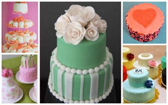 Mini pasteles originales para mesas de dulces. Fotos de White Sugar.