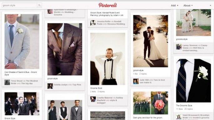 Pinterest para inspiración de boda para el novio en 2013