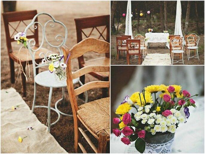 Décorez vous-même vos chaises de mariage vintage