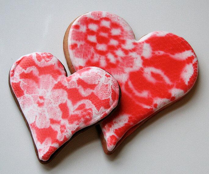Galletas en forma de corazones. Foto: Whipped Bakeshop