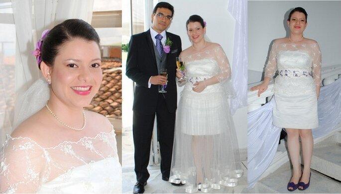 Maquillaje y vestido de novia. Boda de Lina & Carlos