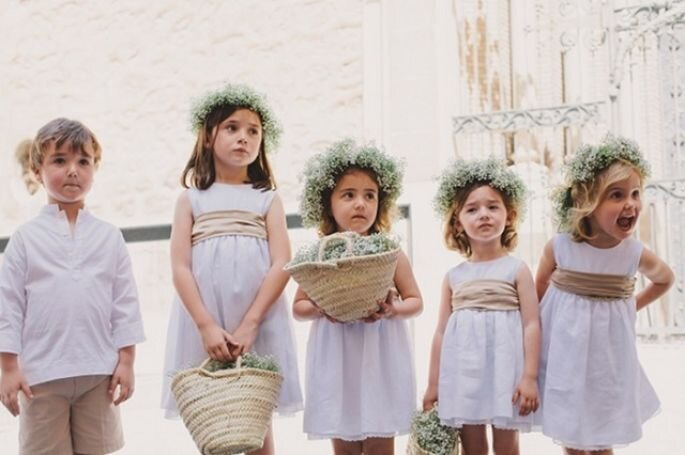 5 consejos de estilo para los pajecitos en el día de la boda. Foto: Love me tender photo