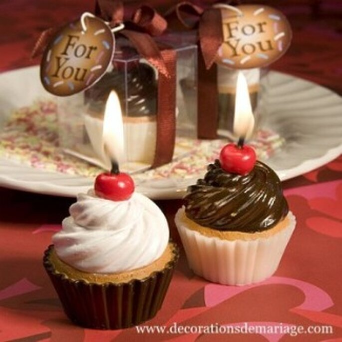 Des bougies en forme de cupcakes pour vos tables de mariage : Une idée gourmande !