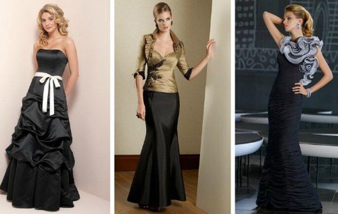 Il nero è sempre il colore per eccellenza dell'eleganza, anche quando abbinato ad altri colori. Collezione Bridesmaids by Mori Lee