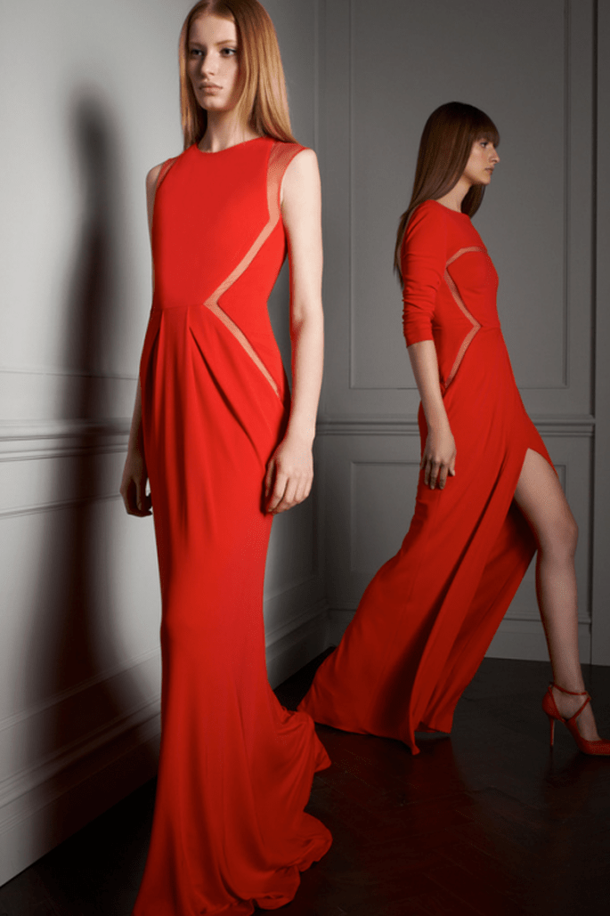 Vestidos de fiesta en color rojo intenso para boda 2014 - Foto Elie Saab