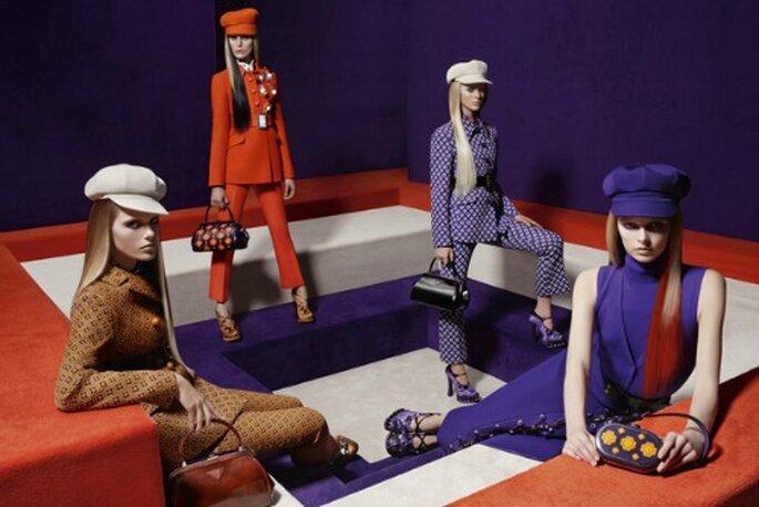 Dans le froid de l'hiver, on dit oui aux couleurs fluos. Telle est la proposition de Prada. Photo www.prada.com