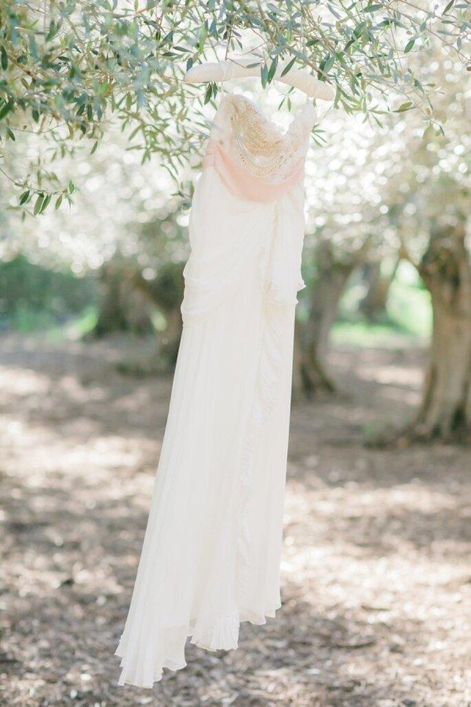 Ein rosafarbenes Brautkleid für Ihre Hochzeit - Foto Avec L'Amour Photography