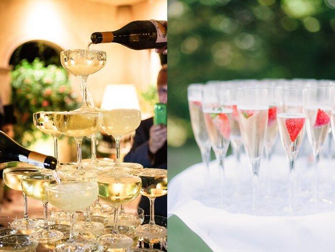 champagne menú de boda