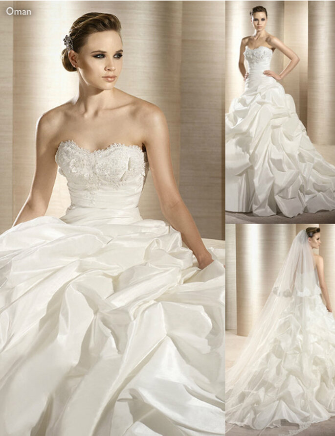 Vestido de novia con elegantes acabados en el corset - Foto: Atelier Diagonal