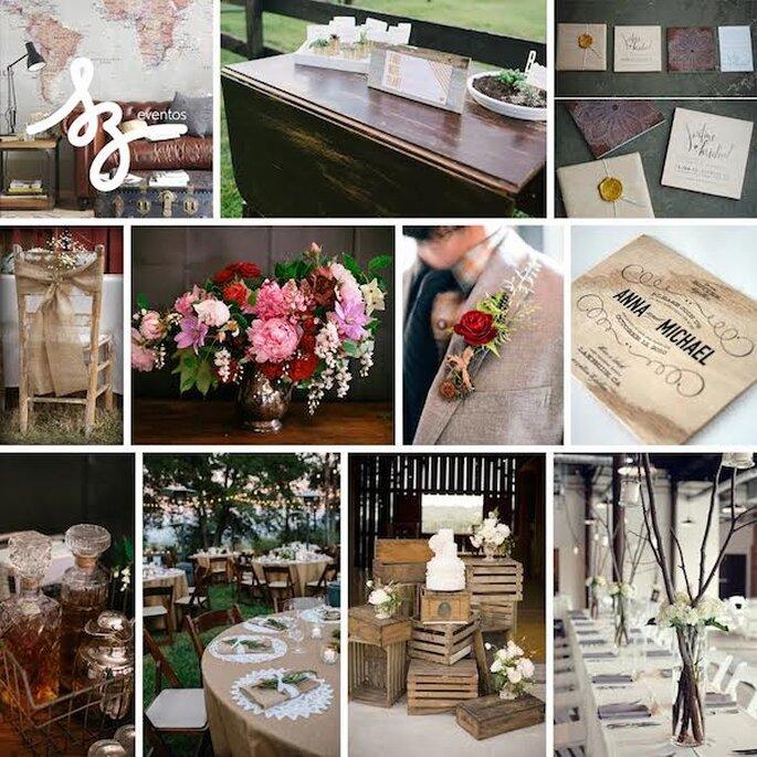 Tu boda con acabados decorativos en caoba - Foto Blake Loates, Elisa Beltrán via Pinterest,