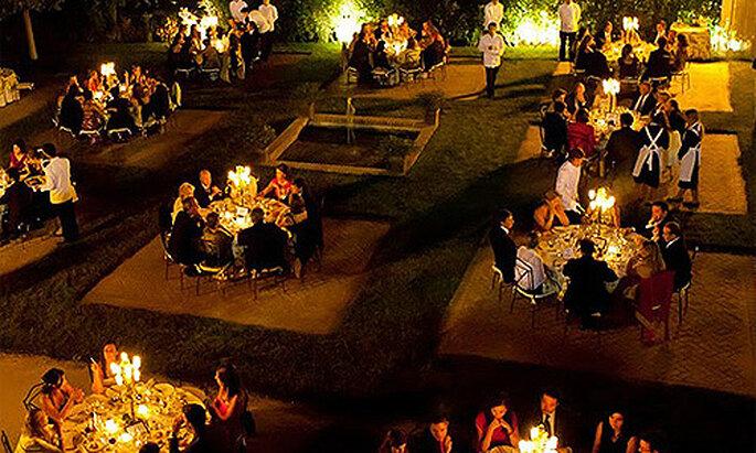 Un banquete a la luz de las velas en el Palacio de Aldovea, en Madrid