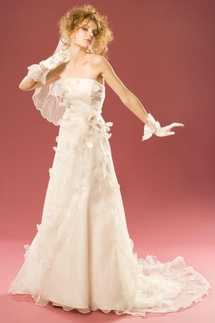 Robe de mariée sur mesure Aurélie Cherell - modèle Rose