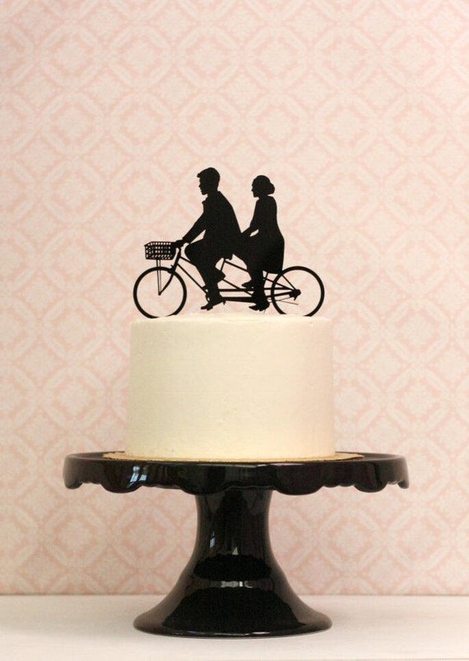 Decoración de boda con siluetas - Foto Etsy
