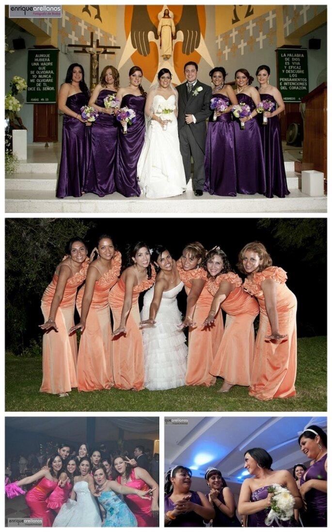 Damas de honor de una boda. Foto: Enrique Arellanos