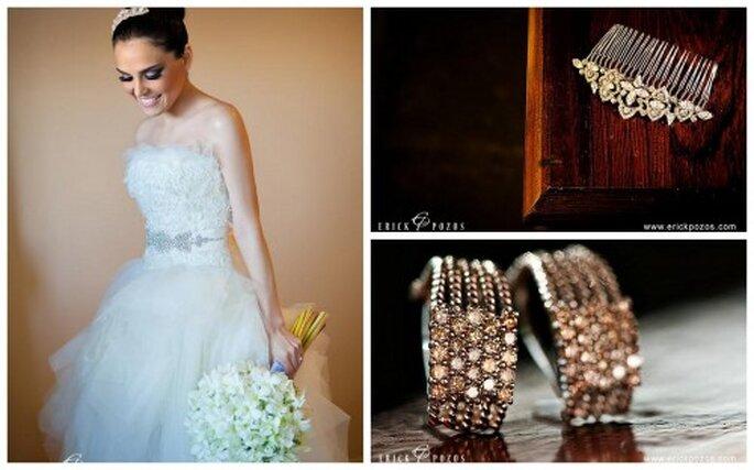 Moda y complementos para novias.Foto de Erick Pozos.