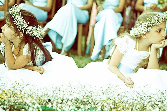 Damitas de honor, también en azul. Foto: Flavia Soares