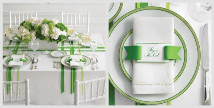Bodas en verde y blanco - Fotos: Martha Stewart