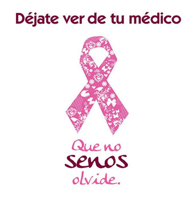 Logo de la campaña de prevención del cáncer de seno 2012 de la Liga Colombiana Contra el Cáncer