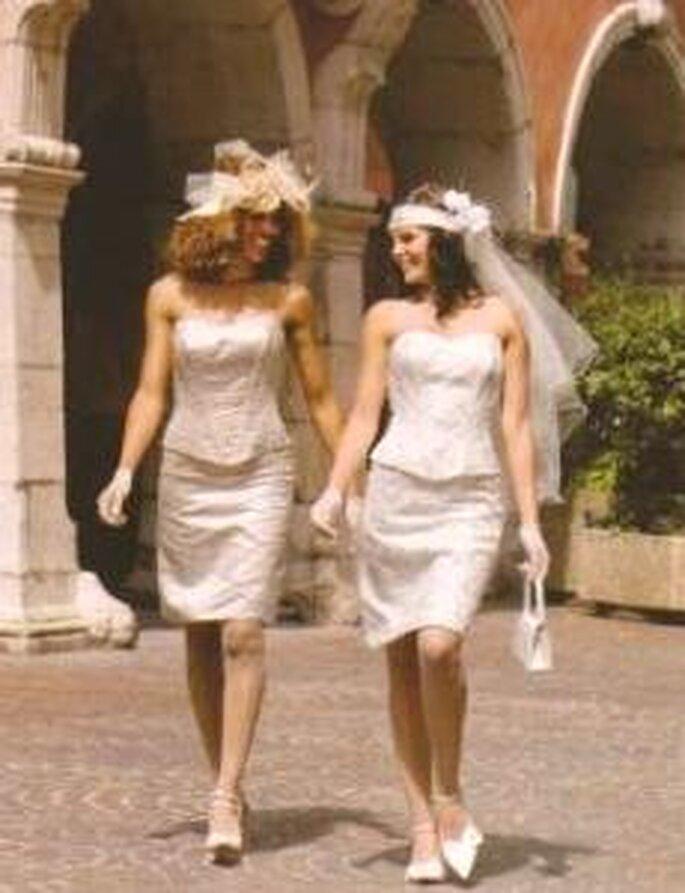 Tati Mariage 2008 - Dourège, robe courte deux pièces, bustier strapless en coeur