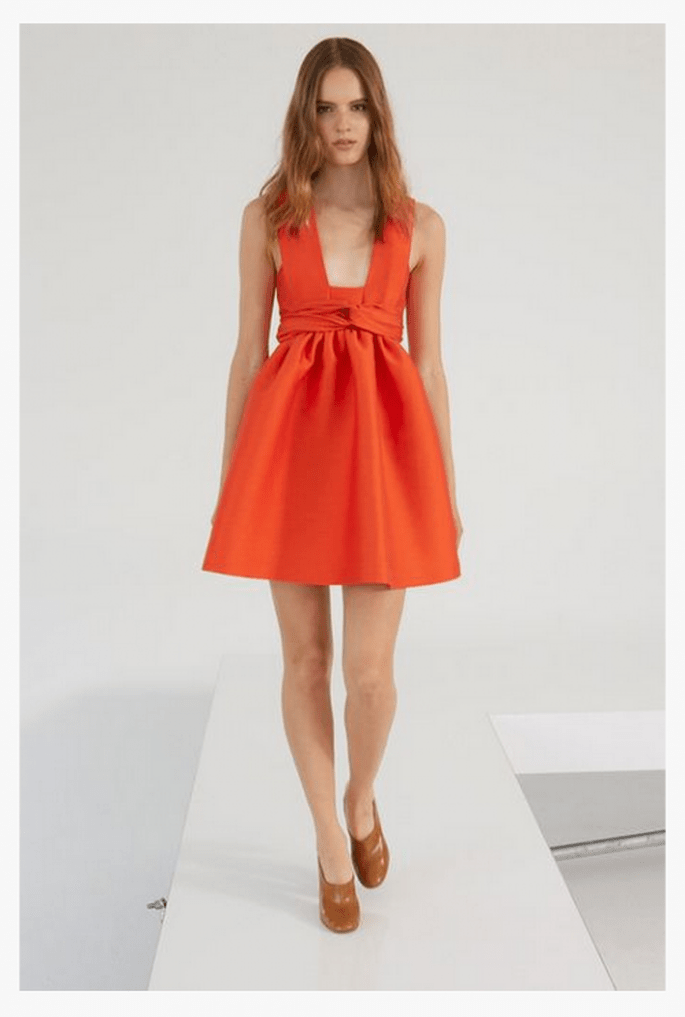 Vestido de fiesta 2014 en color naranja intenso - Foto Stella McCartney