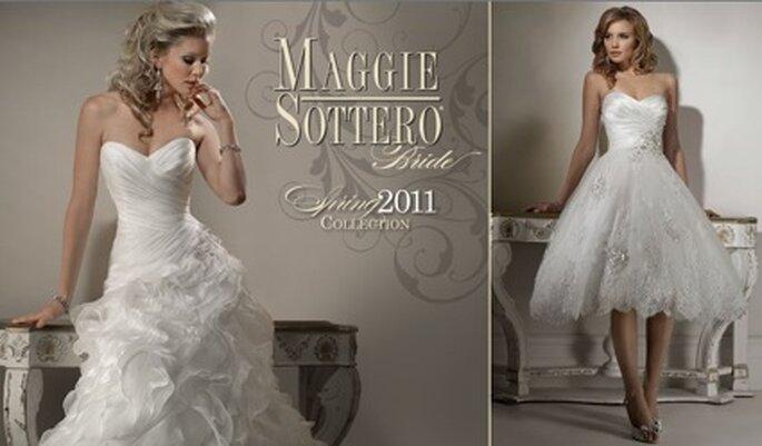 Neue Trends von Maggie Sottero 2011: Hier die Modelle Miri und Isodora Ann